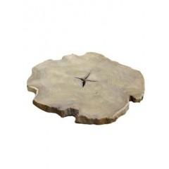 Dřevěná dekorační podložka, sada 4 Ks