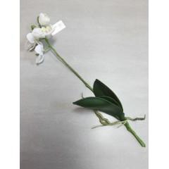 Umělá orchidej Phalaenopsis bush white, 45cm